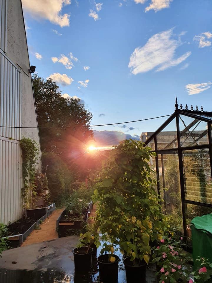 Solnedgang over Tokerudåsen